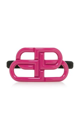 Balenciaga 'bb' Elastic Hair Tie In Pink