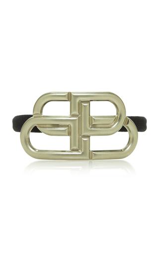 Balenciaga 'bb' Elastic Hair Tie In Silver
