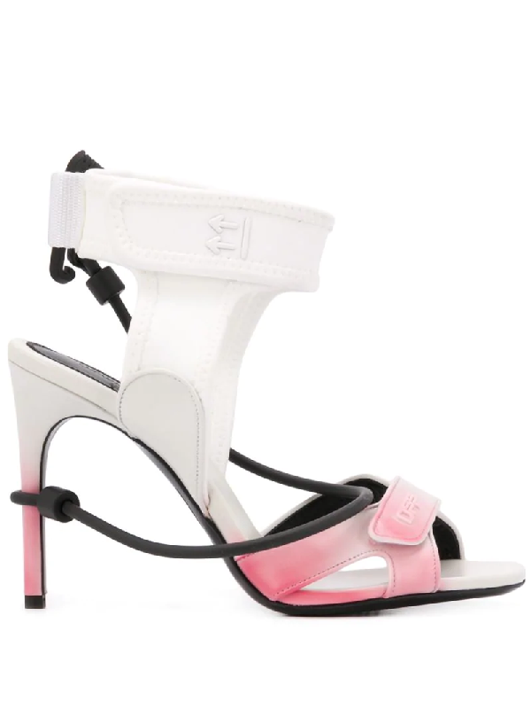 Off-white Degrade Surf Leather Sandals In White