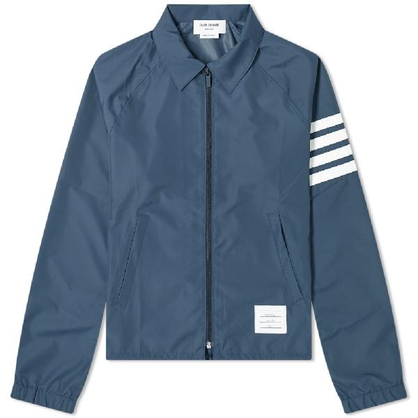 Thom Browne 4 Bars Tech Windbreaker Jacket In 415 Navy