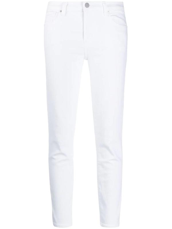J Brand Slim Fit Jeans In White
