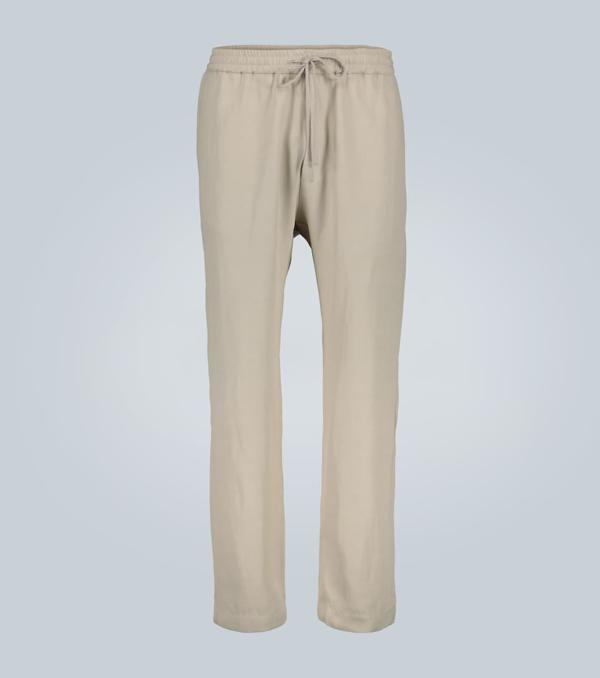 Barena Venezia Bativoga Drawstring-waist Cotton-blend Trousers In Beige
