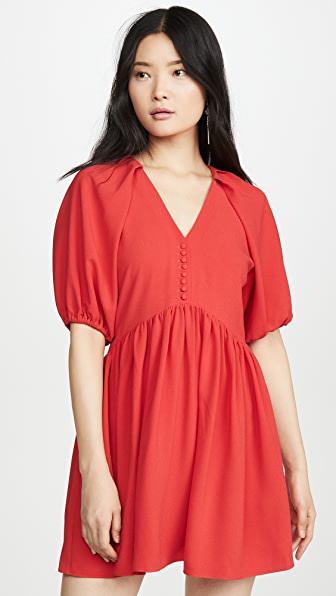 Hofmann Copenhagen Kirsti Dress In Fiery Red