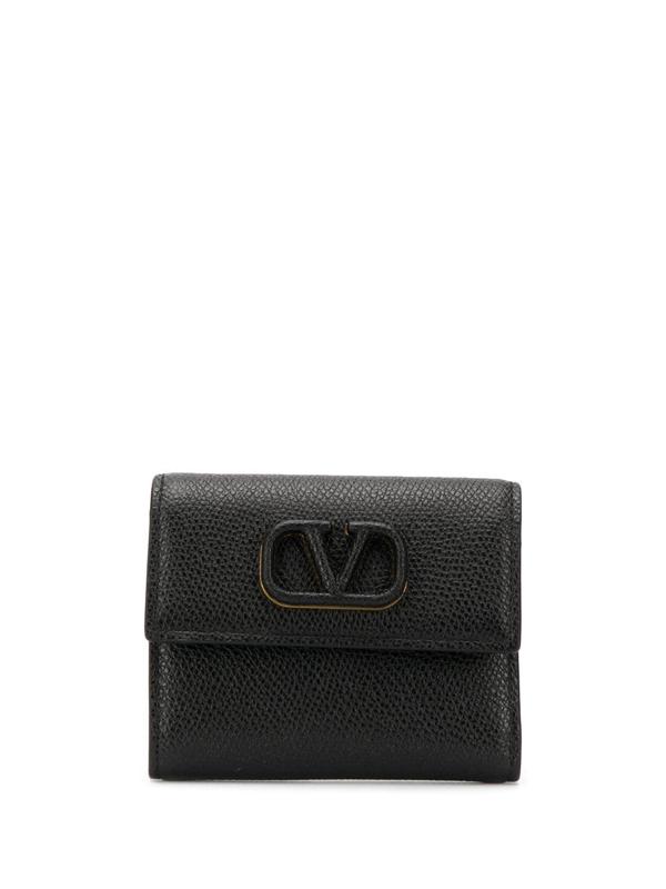 Valentino Garavani Vsling Wallet In Black