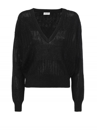 Saint Laurent Sweater In Black