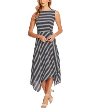 Vince Camuto Serene Strands Asymmetrical Dress In Night Navy