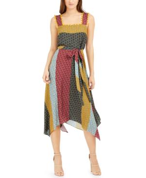 French Connection Adita Sleeveless Midi Dress In Adita Multi