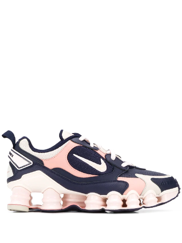 Shox Tl Nova Leather And Mesh Sneakers In Blue
