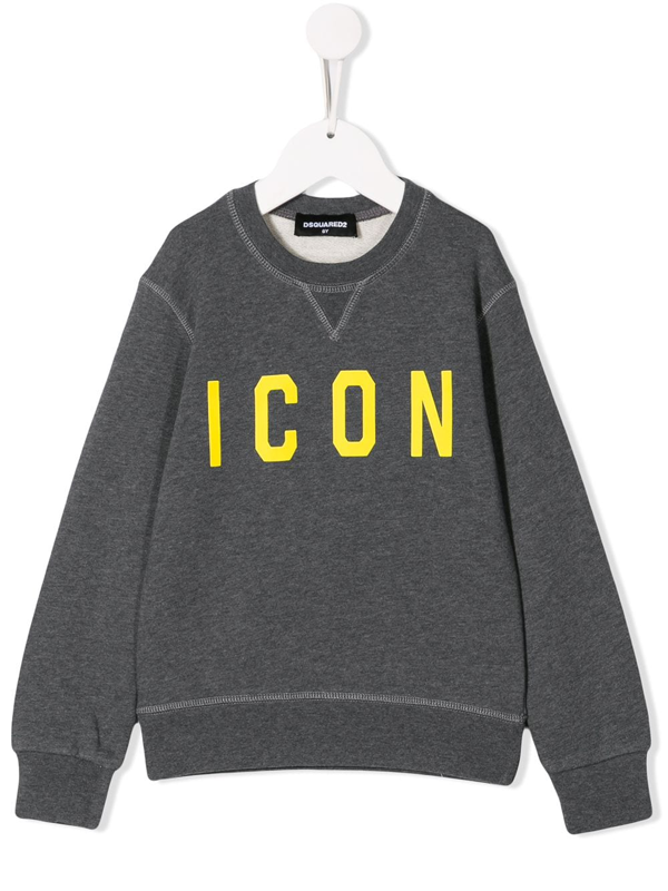 Dsquared2 Kids' Grey Cotton Sweatshirt