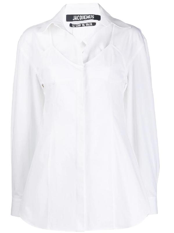 Jacquemus La Chemise Valensole Cotton Poplin Shirt In White