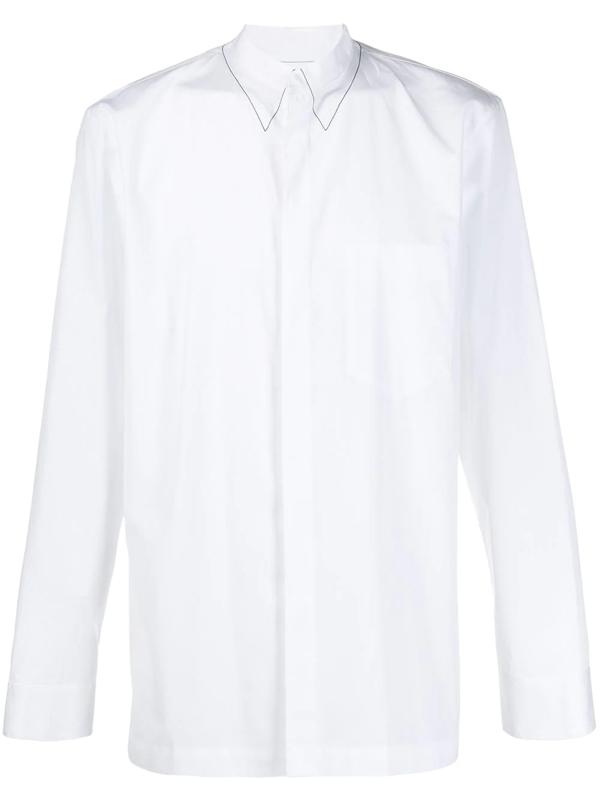 Maison Margiela White Faux Collar Buttoned Shirt