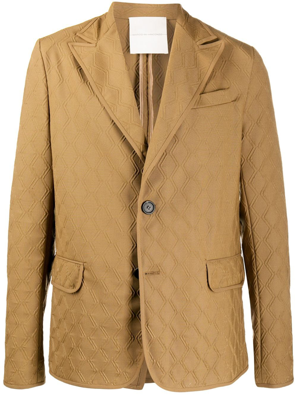 Marco De Vincenzo Relaxed Fit Blazer In Brown