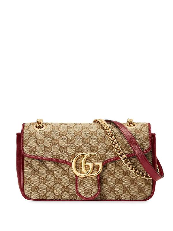Gucci Gg Marmont Mini Crossbody Bag In Neutrals
