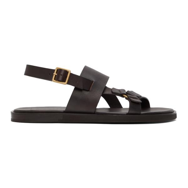 Ermenegildo Zegna Slingback Gladiator Sandals In Wen Brown