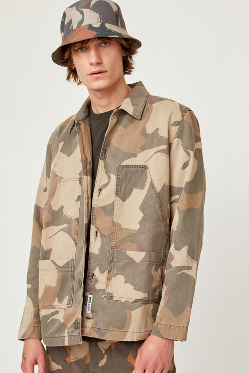 Wood Wood Mens Fabian Brush Camo Shirt In Neutral