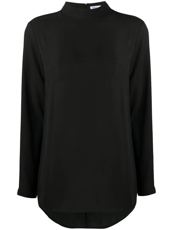 Filippa K Macy Mock Neck Blouse In Black