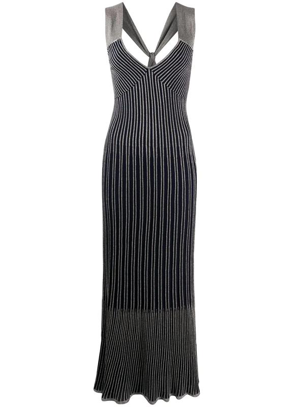 M Missoni Women's Striped Knit Maxi Dress In Blue