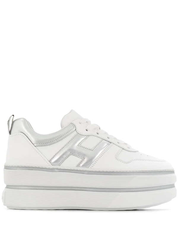 Hogan H449 Platform Sneakers In White | ModeSens