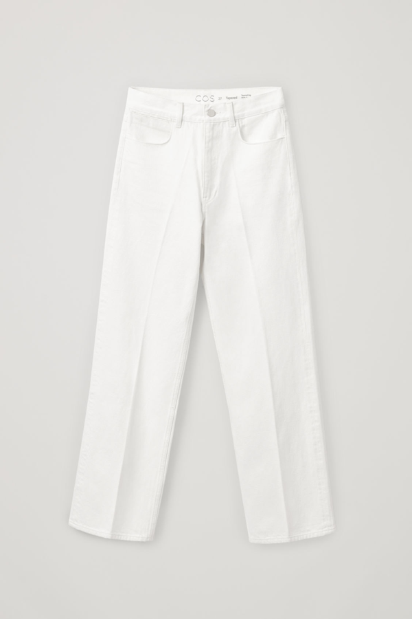 Cos High-waisted Organic Cotton Straight Jeans In White