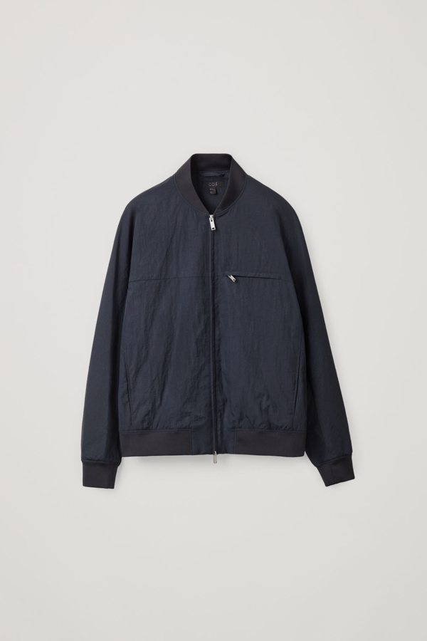 Cos Technical Bomber Jacket In Navy