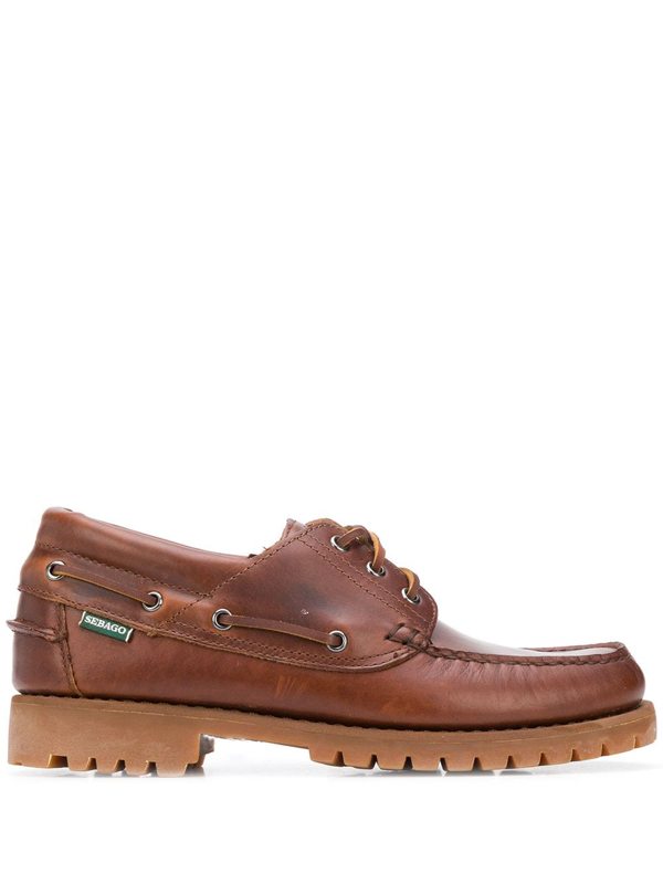 Sebago Acadia Lace-up Loafers In Brown