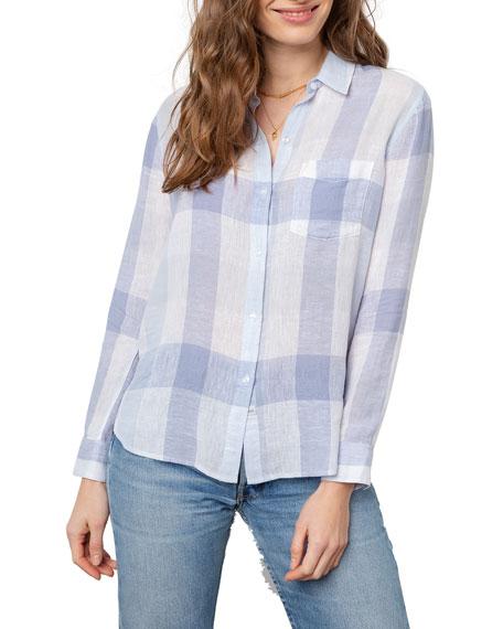 Rails Charli Plaid Shirt In Sky Blue Check   ModeSens
