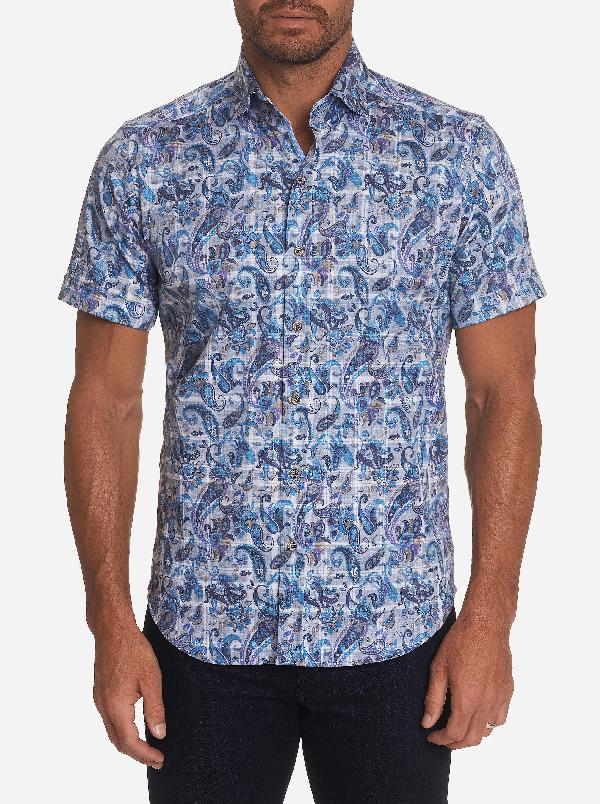 Robert Graham Equinox Medallion Short Sleeve Sport Shirt $158