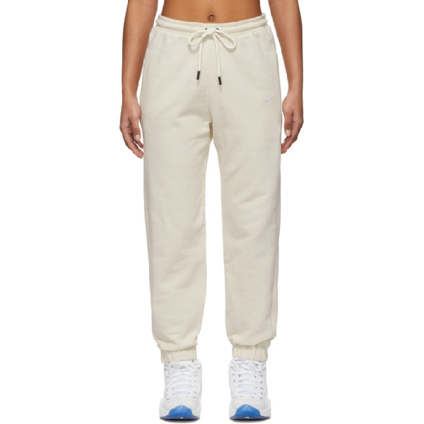 Reebok X Victoria Beckham Reebok By Victoria Beckham Off-white Jogger Lounge Pants In Sandtrap
