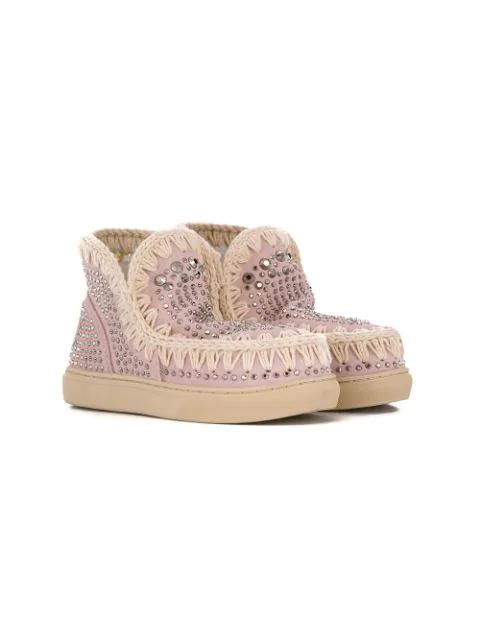 Mou Kids' Eskimo Sneakers In Pink