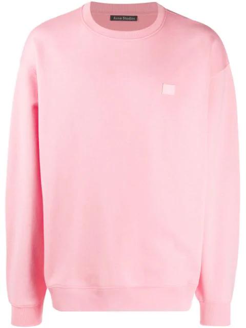 Acne Studios Oversized Cotton Sweatshirt In Pink