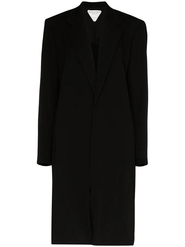 Bottega Veneta Cotton Blazer Jumpsuit In Black