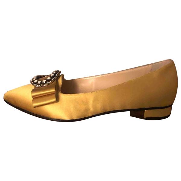 O Jour Yellow Cloth Ballet Flats