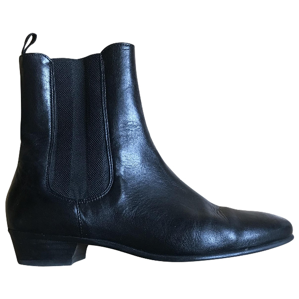 Hudson Black Leather Boots
