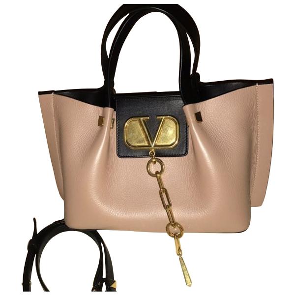 Valentino Garavani Vring Pink Leather Handbag