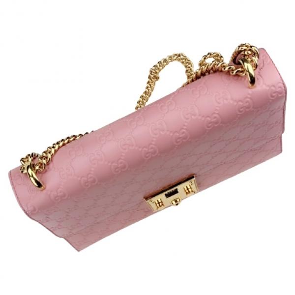 Gucci Padlock Pink Leather Handbag