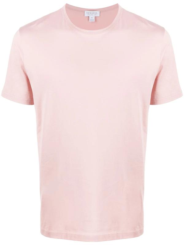 Sunspel Round-neck Short-sleeve T-shirt In Pink