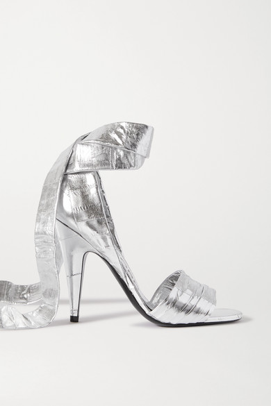 Tom Ford Ankle Strap High-heeled Sandals In Silver