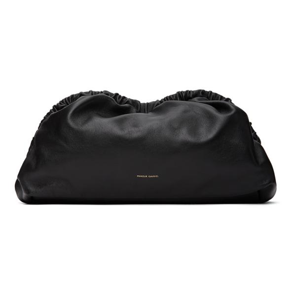 Mansur Gavriel Cloud Mini Leather Cross-body Bag In Black/flamm