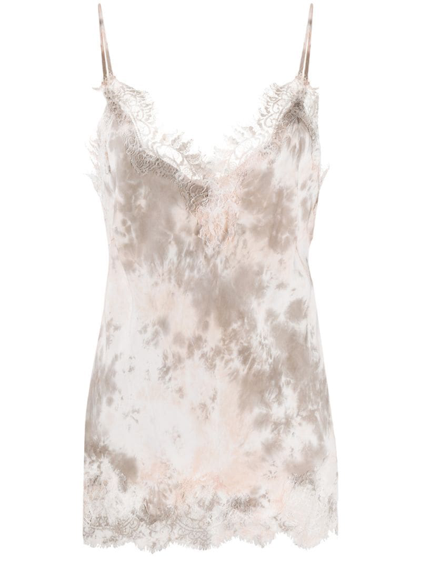 Gold Hawk Abstract Print Vest In Pink
