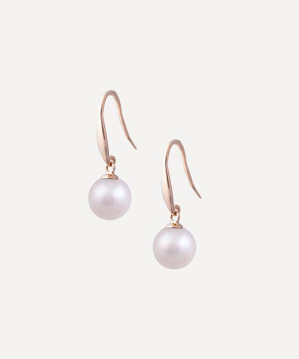 Kojis Gold Pearl Drop Earrings