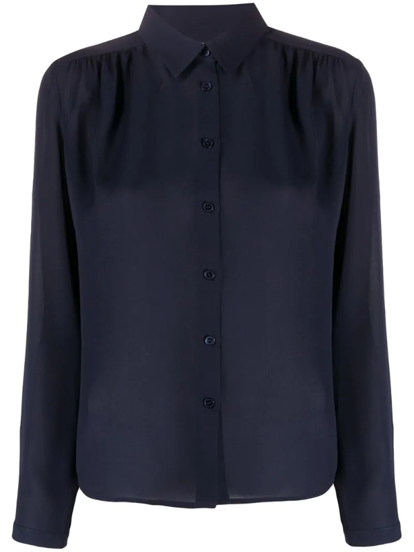Filippa K Marielle Long-sleeved Shirt In Blue