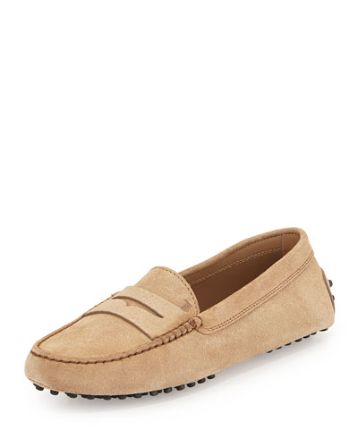 Tod's Gommini Mocassino - Suede Dr In Tan/Camel