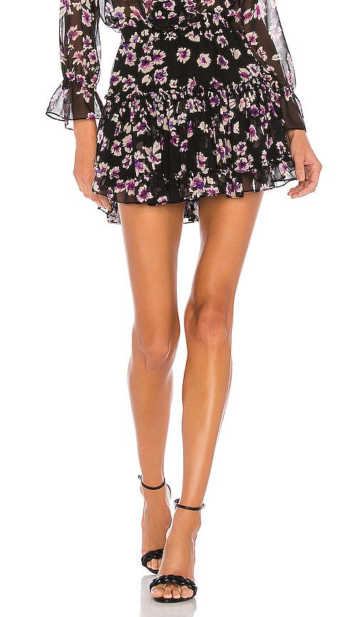 Misa Marion Skirt In Black Floral