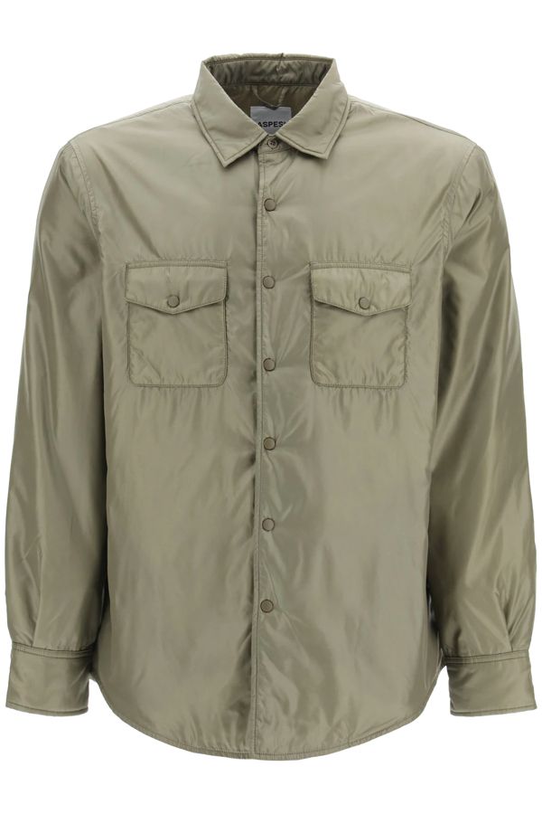 Aspesi 13 Piu Jacket With Thermore Padding In Verde