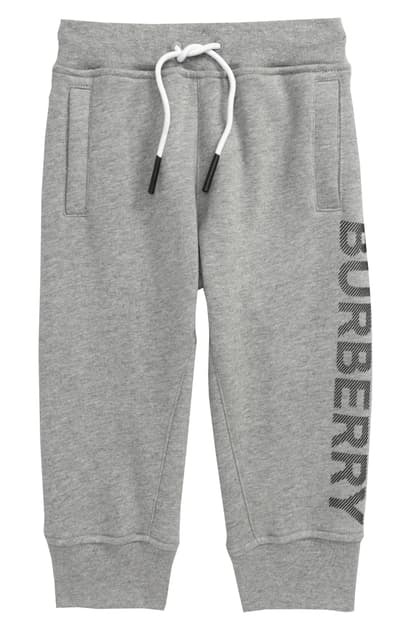 Burberry Boys' Linus Logo Jogger Pants - Little Kid, Big Kid In Grey Melange/ Black