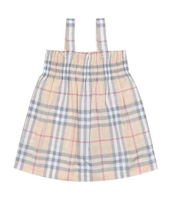 Burberry Girls' Joan Vintage Check Dress & Bloomers Set - Baby In Pale Stone Check