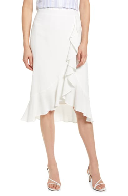 Cupcakes And Cashmere Roxanne Ruffle Skirt In Marshmallow