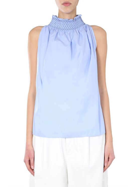 Jejia High Neck Top In Blue
