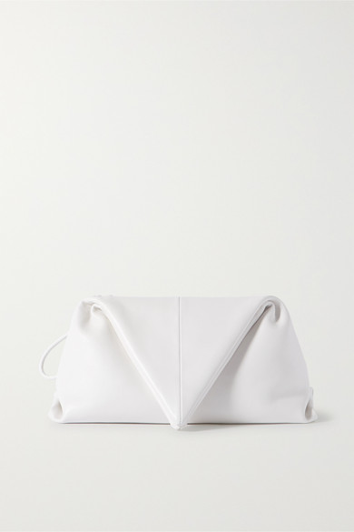 Bottega Veneta White Envelope Leather Clutch Bag