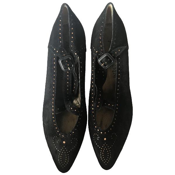 Saint Laurent Black Velvet Heels